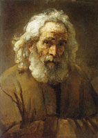 Rembrandt - Study of an Old Man with a Beard