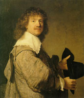 Rembrandt Portrait of a Man Holding a Hat