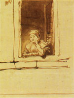 Rembrandt - Saskia at an open window