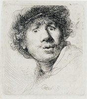 Rembrandt Self-portrait with Eyes Wide Open