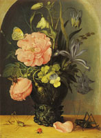 Roelandt Savery Vase of Flowers in a Niche