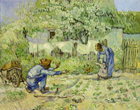 Vincent van Gogh after Millet The First Steps