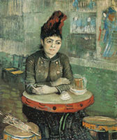 Vincent van Gogh Woman at a Table in the Cafe du Tambourin
