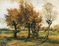 Vincent van Gogh Autumn Landscape with Four Trees