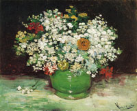 Vincent van Gogh Bowl with Zinnias and Other Flowers