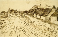 Vincent van Gogh Row of Cottages in Saintes-Maries