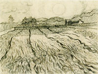 Vincent van Gogh Enclosed Field with Rising Sun