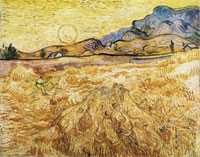 Vincent van Gogh Enclosed Wheat Field with Reaper