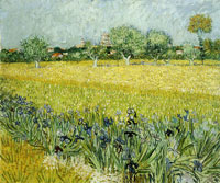 Vincent van Gogh Field with Flowers