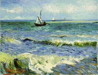 Vincent van Gogh A Fishing Boat at Sea
