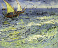 Vincent van Gogh Fishing Boats at Sea