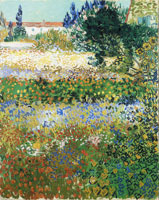 Vincent van Gogh Garden with Flowers