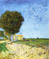 Vincent van Gogh Landscape with Edge of a Road