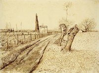 Vincent van Gogh Landscape with Path and Pollard Trees