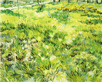 Vincent van Gogh Long Grass with Butterflies
