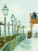 Vincent van Gogh - Terrace and Observation Deck at the Moulin de Blute-Fin, Montmartre
