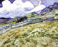 Vincent van Gogh Mountain Landscape Seen Across the Walls