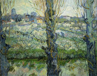 Vincent van Gogh Orchard in Bloom with Poplars in the Foreground