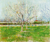 Vincent van Gogh Orchard in Blossom (Plum Trees)