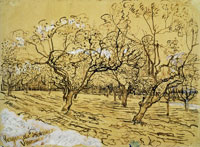 Vincent van Gogh Orchard with Blossoming Plum Trees