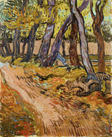 Vincent van Gogh Path in a Wood with Sitting Figure