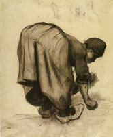 Vincent van Gogh Peasant Woman, Stooping, Seen from the Back