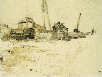 Vincent van Gogh Road with Telegraph Pole and Crane