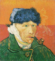 Vincent van Gogh Self-Portrait with Bandaged Ear and Pipe