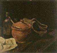 Vincent van Gogh Still Life with Earthen Pot and Clogs