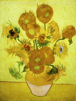 Vincent van Gogh Vase with Fourteen Sunflowers