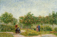Vincent van Gogh People Walking in a Parc Voyer d'Argenson in Asnières