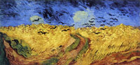 Vincent van Gogh Wheat Field under Threatening Skies with Crows