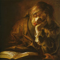 Willem Drost Young Man Sleeping Over a Book