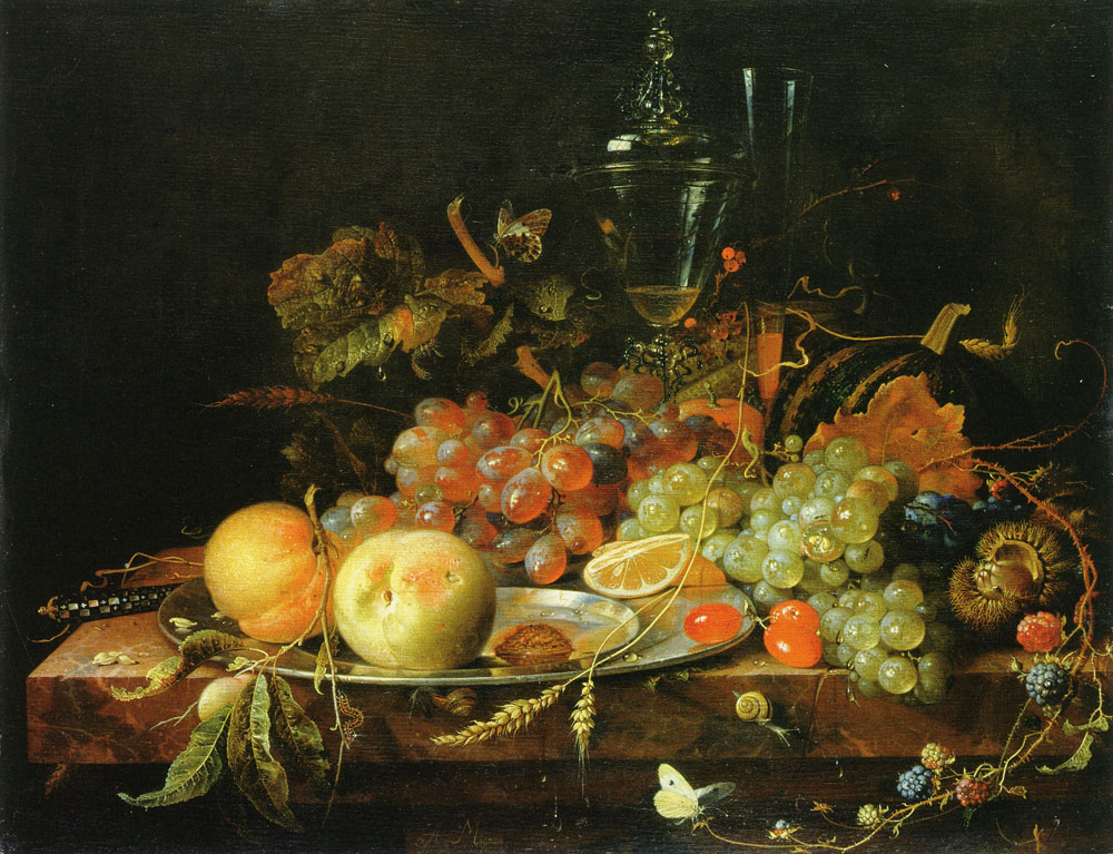 Abraham Mignon - Still life with fruit