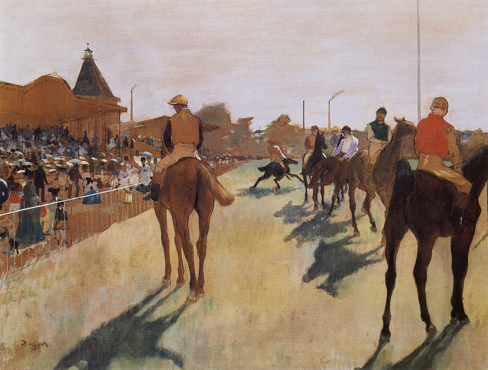 Edgar Degas - The Parade (Racehorses before the Stands)