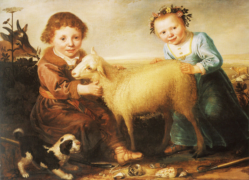 Jacob Gerritsz. Cuyp - Two Children with a Lamb