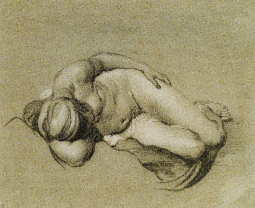 Jacob Backer - Nude Woman, Lying