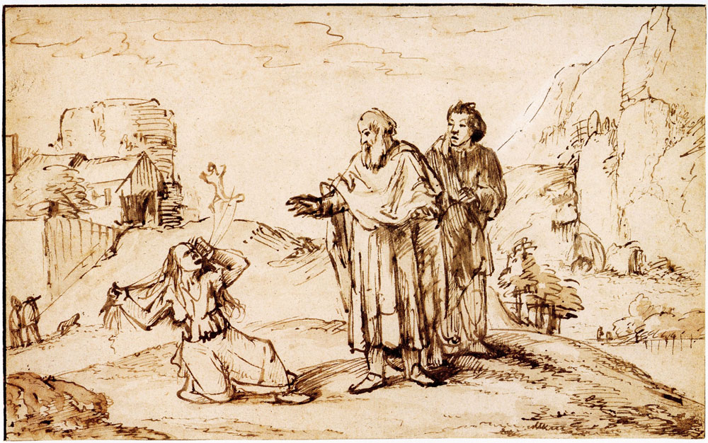 Pieter de With - Paul and Silas in Philippi drive the devil out of a woman possessed of a spirit of divination