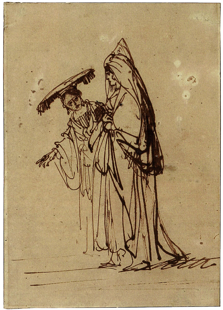 Rembrandt - Ruth and Naomi on Their Way to Bethlehem