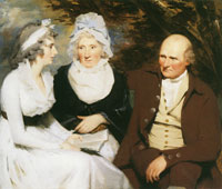 Henry Raeburn John Johnstone of Alva, Betty Johnstone and Miss Wedderburn
