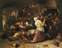 Jan Steen Gamblers Quarreling