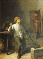Adriaen Brouwer The smoker, or The smell