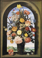 Ambrosius Bosschaert the Elder Vase with flowers