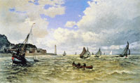 Claude Monet - Mouth of the Seine at Honfleur