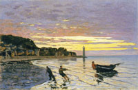 Claude Monet Towing a Boat, Honfleur