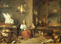 David Teniers the Younger Kitchen interior