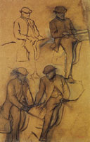 Edgar Degas Four Studies of a Groom