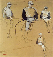 Edgar Degas Four Studies of a Jockey