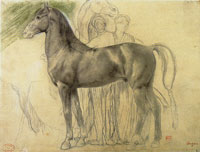 Edgar Degas Study of a Horse and a Group of Attendants