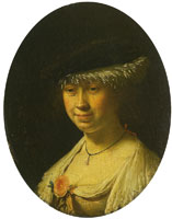 Frans van Mieris the Elder Portrait of a woman